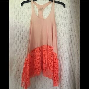 Free people !! Bright racer back tunic tank !!